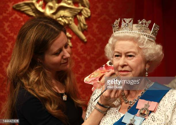 Madame Tussauds London reveals the 23rd waxwork edition of Queen Elizabeth II at Madame Tussauds on May 14, 2012 in London, England.