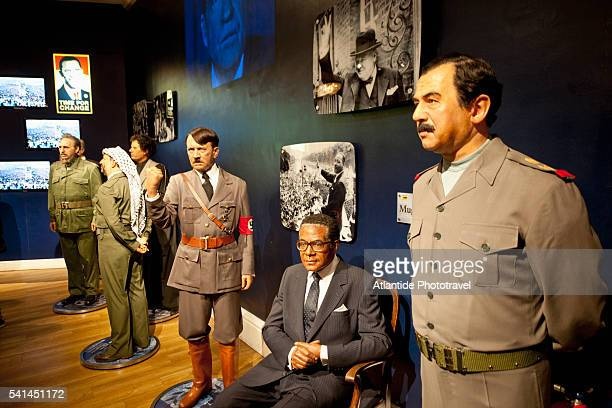 madame tussauds museum - hitler statue stock pictures, royalty-free photos & images
