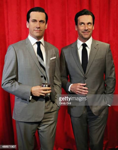Madame Tussauds New York and actor Jon Hamm unveil Don Draper's wax figure during Mad Men's Final Season at Madame Tussauds New York on May 9 2014 in...