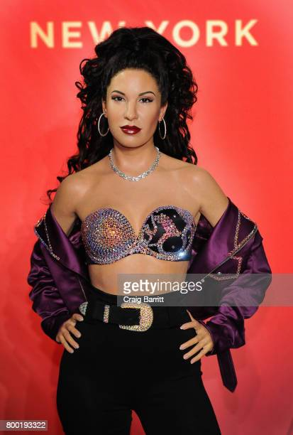 Madame Tussauds New York hosts Selena Quintanilla's sister for unveiling of late singer's figure in Times Square at Madame Tussauds on June 23 2017...