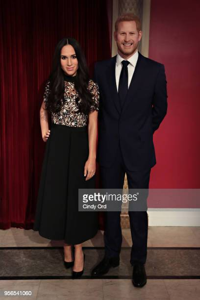 Madame Tussauds New York reveals their first ever Meghan Markle figure with restyled Prince Harry figure on May 9 2018 in New York City