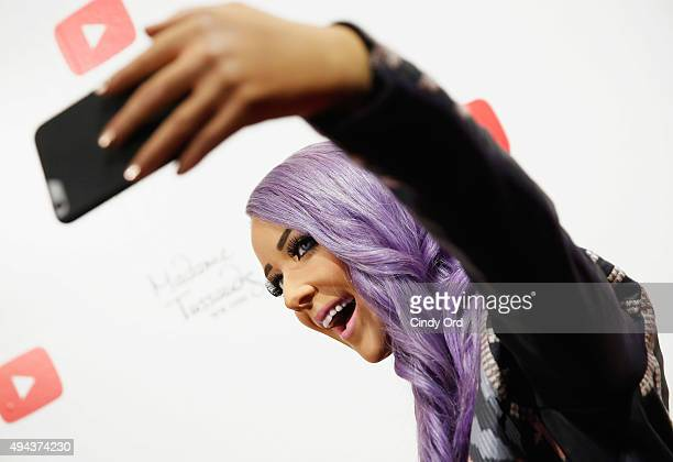 Madame Tussauds New York unveils a neverbeforeseen 'selfie experience' figure of YouTube sensation Jenna Marbles on October 26 2015 in New York City