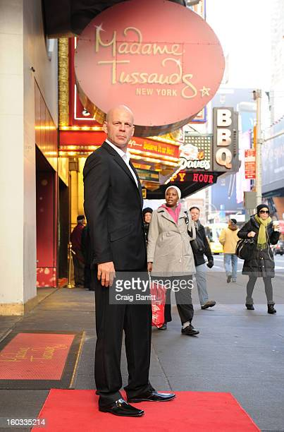 Madame Tussauds New York unveils a wax figure of actor Bruce Willis in Times Square on Tuesday January 29 2013 in New York City Artists from the...
