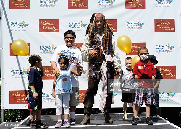 Madame Tussauds of Hollywood unveiled their new wax figure of Johnny Depp aka Jack Sparrow from the movie Pirates of the Caribbean with the help of a...