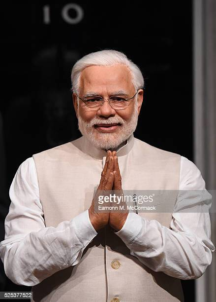 Madame Tussauds present a new wax figure of Narendra Modi, Prime Minister of India, it joins other World leader figures at Madame Tussauds on April...