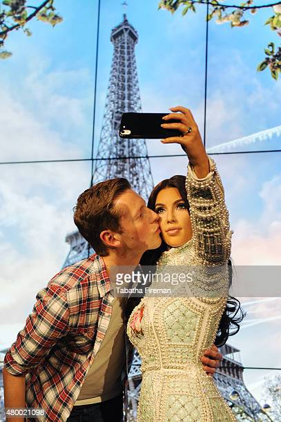 Madame Tussauds unveil a new wax figure of Kim Kardashian which takes selfies against changing location backdrops at Madame Tussauds A fan Alex...