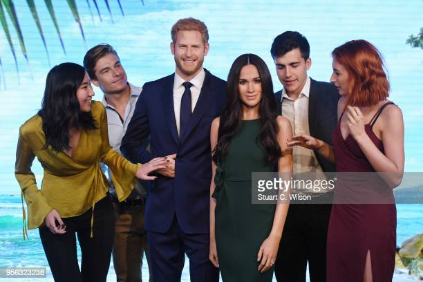 Madame Tussauds unveils a wax figure of Ms Meghan Markle ahead of her wedding to Prince Harry on May 19 at Madame Tussauds on May 9 2018 in London...