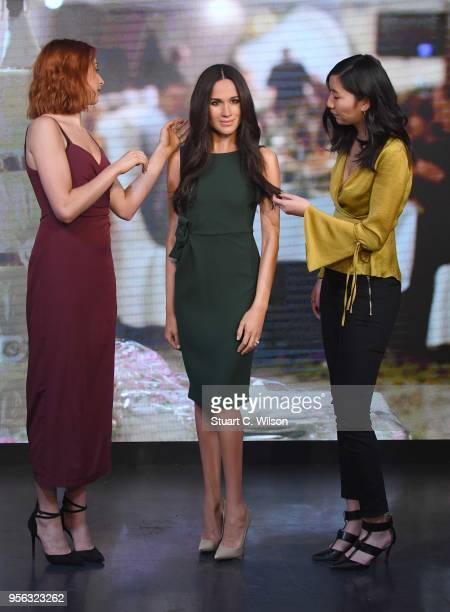 Madame Tussauds unveils a wax figure of Ms. Meghan Markle ahead of her wedding to Prince Harry on May 19 at Madame Tussauds on May 9, 2018 in London,...