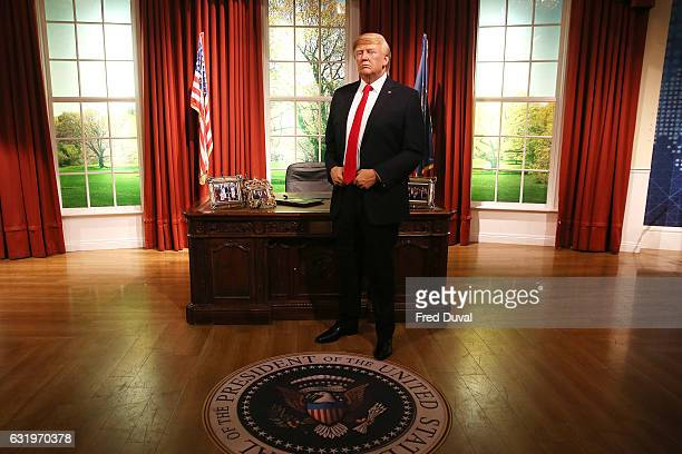 Madame Tussauds unveils a wax figure of PresidentElect Donald J Trump ahead of the inauguration on Friday at Madame Tussauds London on January 18...
