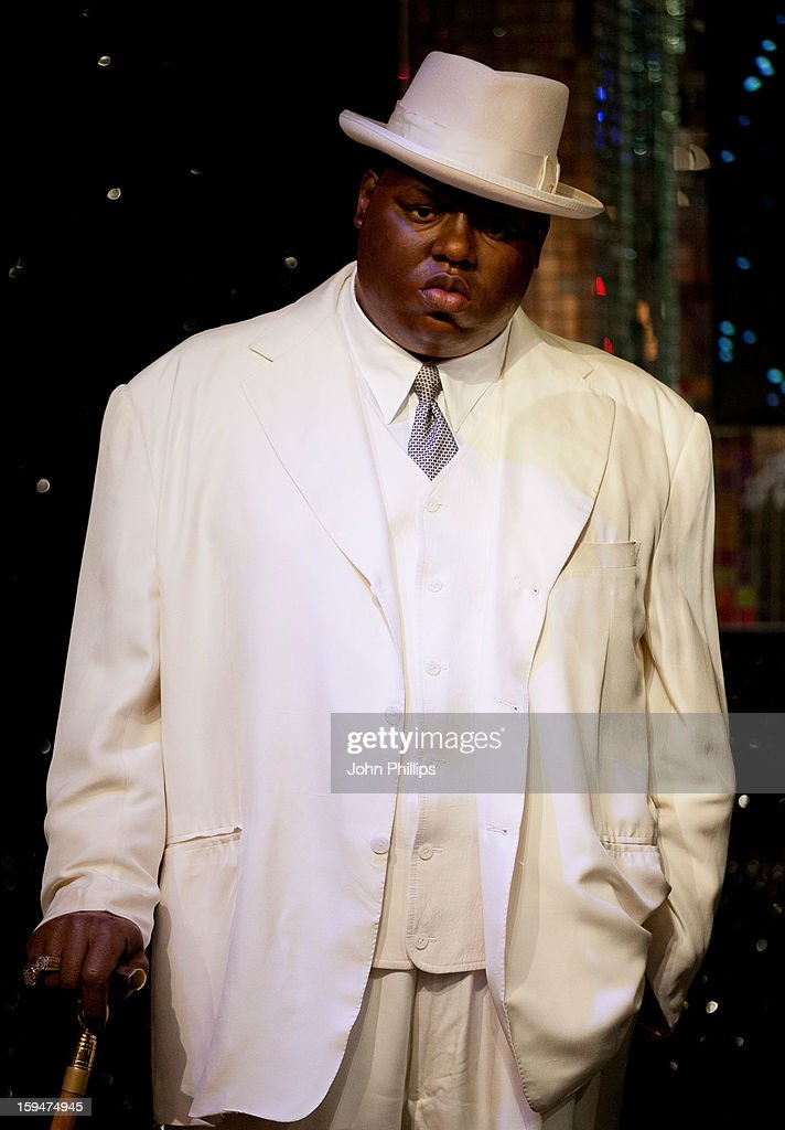 Madame Tussauds unveils the wax figure of rap star Biggie Smalls (The Notorious BIG), exhibited for the first time in London at Madame Tussauds on January 14, 2013 in London, England.