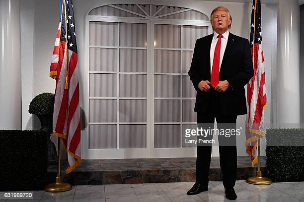 Madame Tussauds Washington DC and attractions in New York Orlando and London launched its new wax figure of Donald J Trump at Madame Tussauds on...