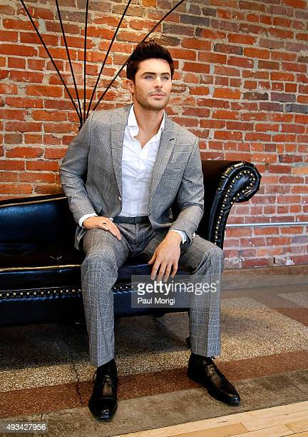 Madame Tussauds Washington DC unveils a never before seen wax figure of Zac Efron during an event at The Loft at 600 F on October 20 2015 in...