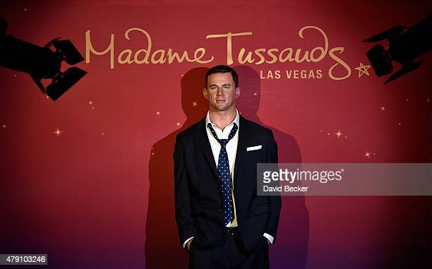 """Madame Tussauds wax figure of actor Channing Tatum is displayed at preview of """"Magic Mike XXL"""" at Town Square on June 30, 2015 in Las Vegas, Nevada."""