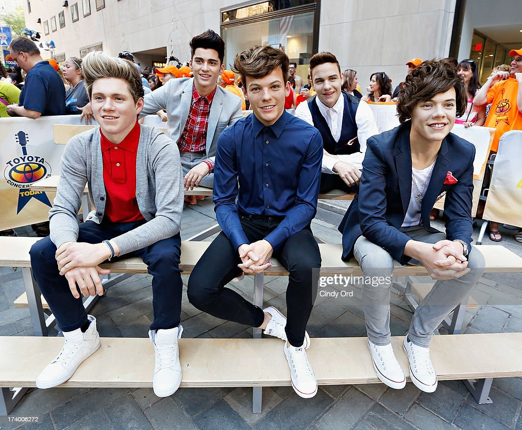 One Direction Wax Figures At The Today Show : News Photo