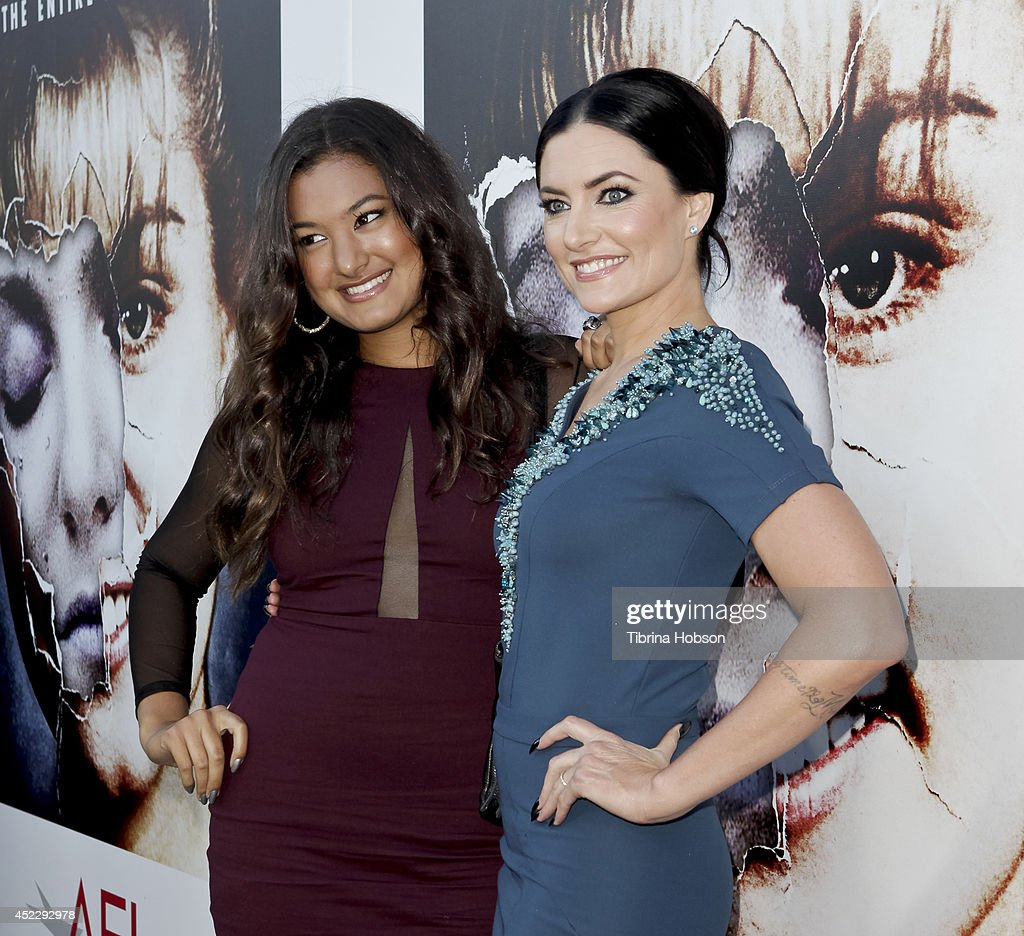 Madchen Amick (R) and her daughter attend the 'Twin Peaks' Blu-Ray/DVD release party and screening at the Vista Theatre on July 16, 2014 in Los Angeles, California.