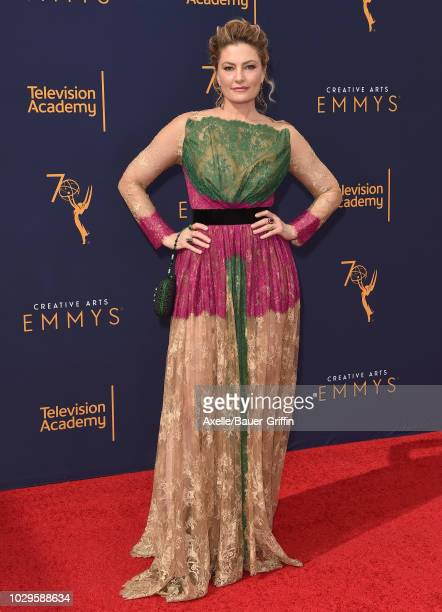 Madchen Amick attends the 2018 Creative Arts Emmy Awards at Microsoft Theater on September 8 2018 in Los Angeles California