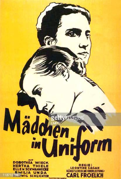 Madchen In Uniform poster from top on German poster art Dorothea Wieck Hertha Thiele 1931