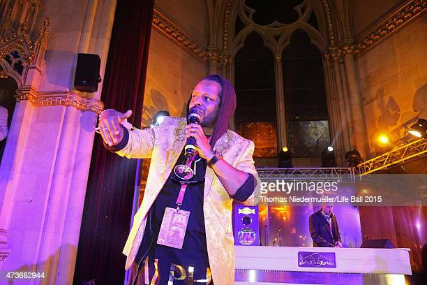 Madcon performs at the Life Ball 2015 after show party at City Hall on May 16 2015 in Vienna Austria