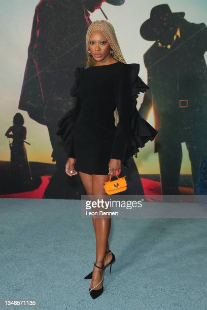 """Madd attends Los Angeles Premiere Of """"The Harder They Fall"""" at Shrine Auditorium and Expo Hall on October 13, 2021 in Los Angeles, California."""