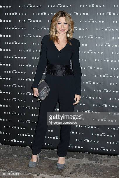 Maddalena Corvaglia attends the Richmond show as a part of Milan Fashion Week Menswear Autumn/Winter 2014 on January 12 2014 in Milan Italy