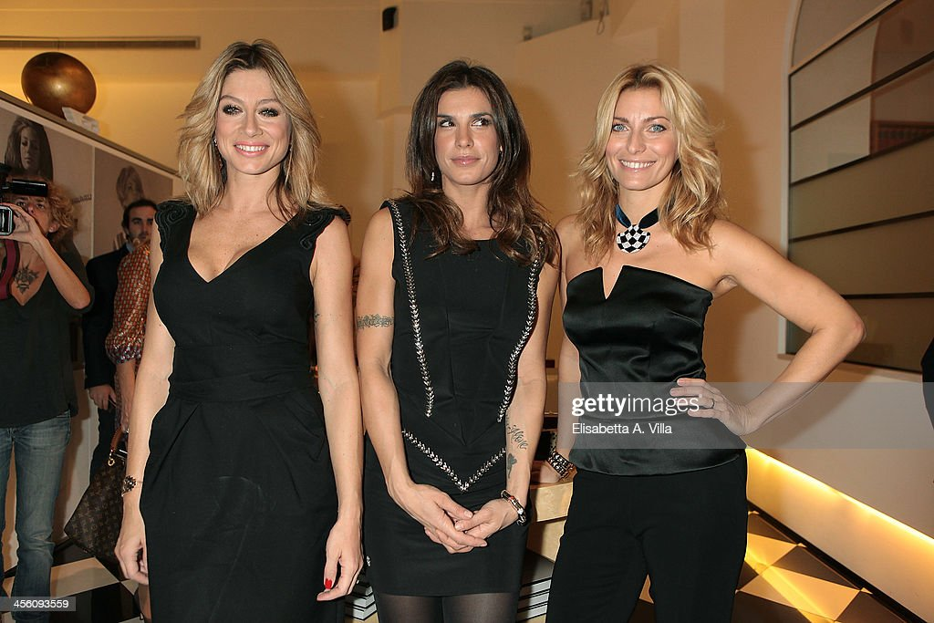 Maddalena Corvaglia, Elisabetta Canalis and Federica Fontana attend the 'Luce Preziosa' presentation at the GB ENIGMA by Gianni Bulgari boutique on December 13, 2013 in Rome, Italy. Luce Preziosa is an inspiring christmas jewellery and light TechoArt opera by the artist Geo Florenti.