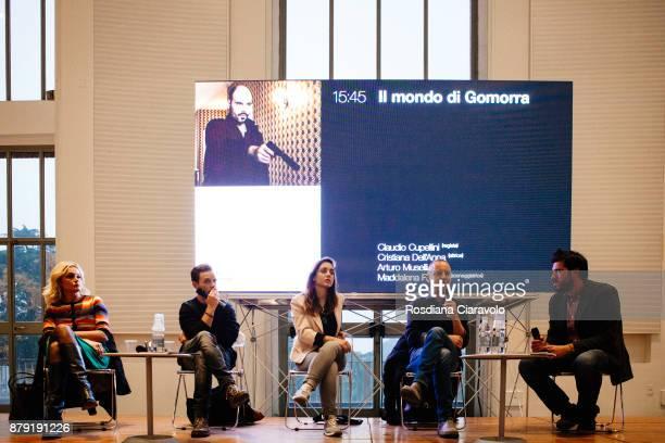 Maddalena Ravagli Arturo Muselli Cristiana Dell'Anna and Claudio Cupellini attend the Studio In Triennale on November 25 2017 in Milan Italy