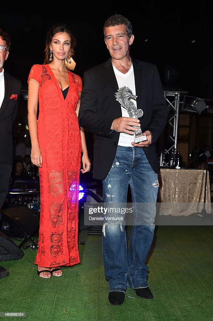 Maddalina Ghenea and Antonio Banderas attend 2015 Ischia Global Film & Music Fest Day 2 on July 14, 2015 in Ischia, Italy.
