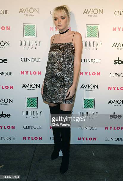 Maddi Bragg attends NYLON Nights Los Angeles in celebration of the October It Girl issue hosted by cover star Tinashe at Doheny Room on October 13...