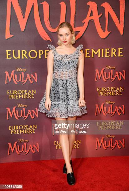 Maddi Waterhouse attending the European premiere of Disney's Mulan held in Leicester Square London