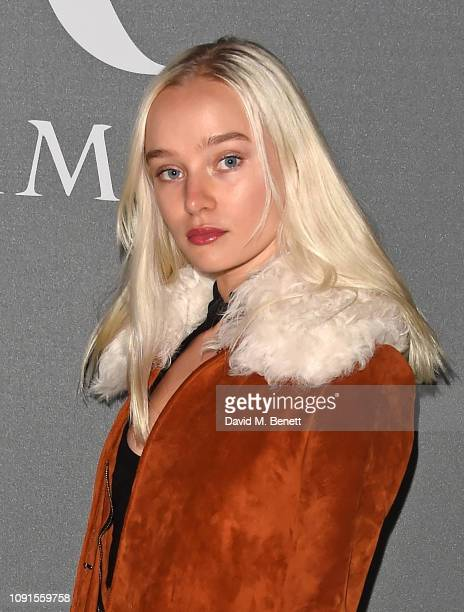 Maddi Waterhouse attends a private view of the 'Christian Dior Designer of Dreams' exhibition at The VA on January 30 2019 in London England