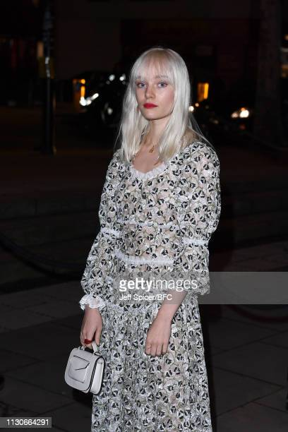 Maddi Waterhouse attends the Fabulous Fund Fair during London Fashion Week February 2019 at The Roundhouse on February 18 2019 in London England