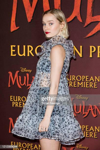 Maddi Waterhouse attends the Mulan European Premiere at Odeon Luxe Leicester Square on March 12 2020 in London England