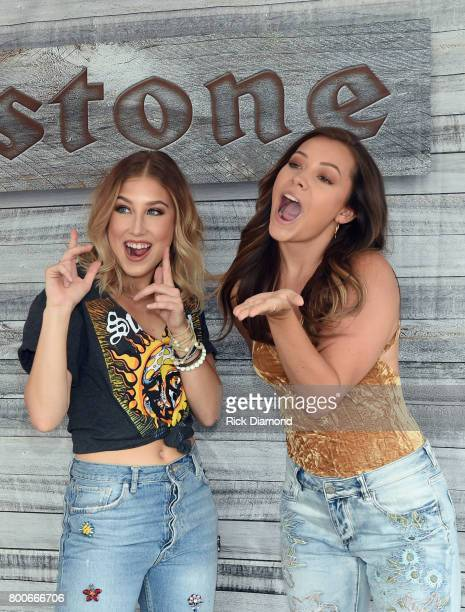 Maddie and Tae at Firestone during Kicker Country Stampede Day 3 at Tuttle Creek State Park on June 24 2017 in Manhattan Kansas