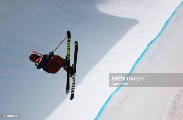 Maddie Bowman of the United States competes during the Freestyle Skiing Ladies' Ski Halfpipe Final on day eleven of the PyeongChang 2018 Winter...