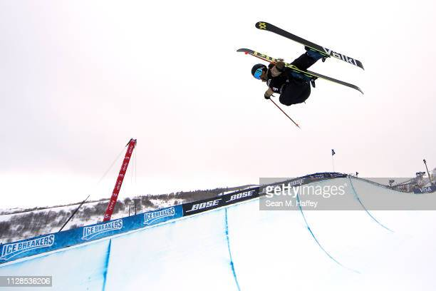 Maddie Bowman of The United States competes in the Ladies' Ski Halfpipe of the FIS Freestyle Ski World Championships on February 09 2019 at Park City...