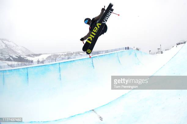 Maddie Bowman of the United States takes a training run for the Ladies' Ski Halfpipe training at the FIS Freestyle Ski World Championships on...