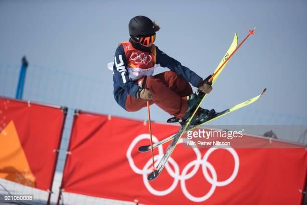 Maddie Bowman of USA during the women's Halfpipe Freestyle Skiing at Phoenix Snow Park on February 20 2018 in Pyeongchanggun South Korea