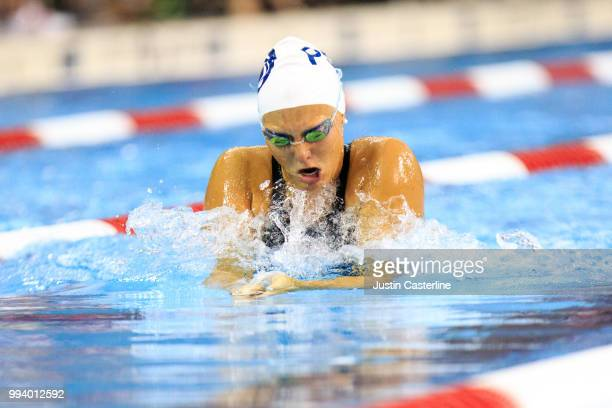 Maddie Cooke competes in the women's 100m breaststroke prelims at the 2018 TYR Pro Series on July 8 2018 in Columbus Ohio