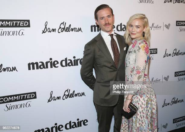 Maddie Hasson and Julian Brink attend Marie Claire Celebrates Fifth Annual 'Fresh Faces' in Hollywood with SheaMoisture Simon G and Sam Edelman at...