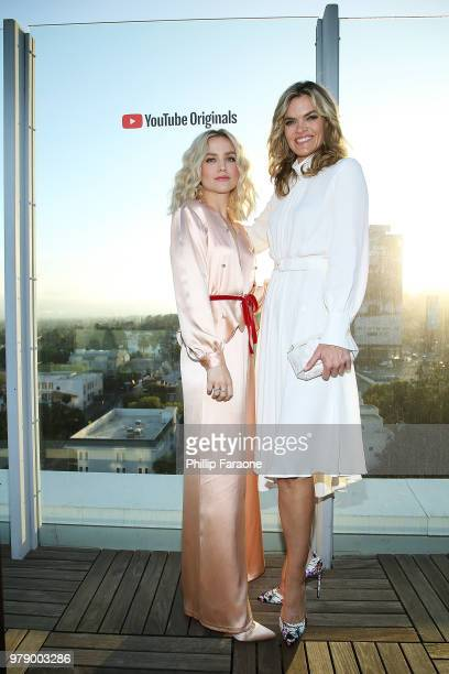 Maddie Hasson and Missi Pyle attend a private party celebrating hit YouTube Originals 'Cobra Kai' 'Impulse' and 'Ryan Hansen Solves Crimes On...