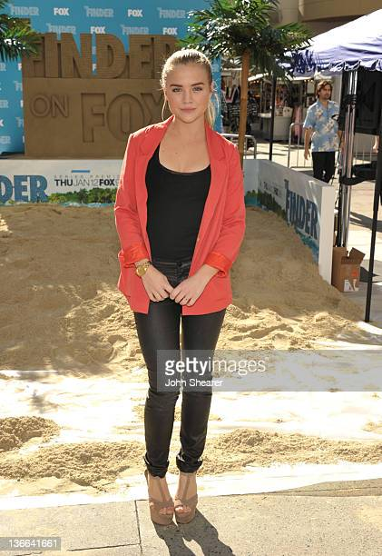 Maddie Hasson attends Fox's The Finder Challenge at Hollywood Highland Courtyard on January 9 2012 in Hollywood California