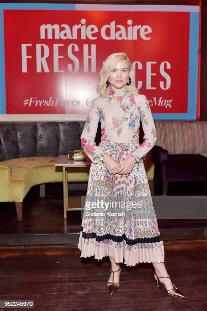 Maddie Hasson attends Marie Claire Celebrates Fifth Annual 'Fresh Faces' in Hollywood with SheaMoisture Simon G and Sam Edelman at Poppy on April 27...