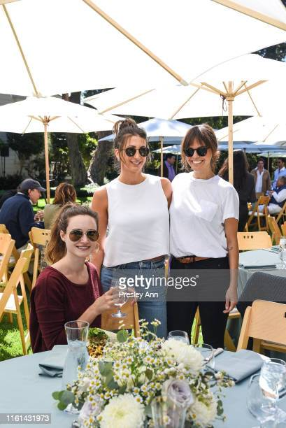 Maddie Knutson Jamie Braverman and Michelle Randolph attend Hearst Castle Preservation Foundation Lunch at the Piedras Blancas Ranch at Hearst Ranch...