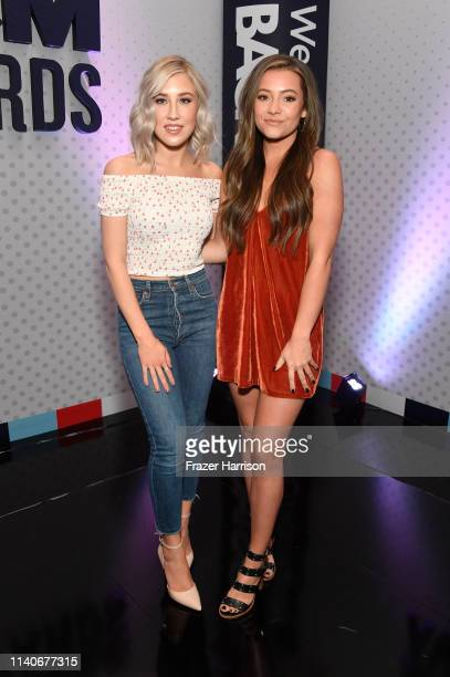 Maddie Marlow and Tae Dye of Maddie Tae attend the 54th Academy Of Country Music Awards Cumulus/Westwood One Radio Remotes on April 05 2019 in Las...