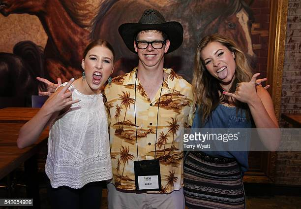 Maddie Marlow and Tae Dye of the Musical duo Maddie Tae spend time with campers during the ACM Lifting Lives Music Camp at The Wildhorse Saloon on...