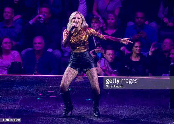 Maddie Marlow of Maddie Tae performs onstage at Little Caesars Arena on October 31 2019 in Detroit Michigan