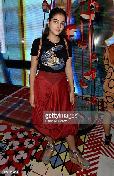 Maddie Mills attends Melissa X Vivienne Westwood Anglomania Ride The Rocking Horse at Galeria Melissa on September 15 2016 in London United Kingdom