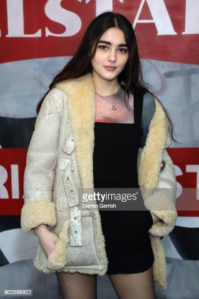 Maddie Mills attends the Belstaff AW18 Mens Womens Presentation during London Fashion Week Men's January 2018 on January 8 2018 in London England
