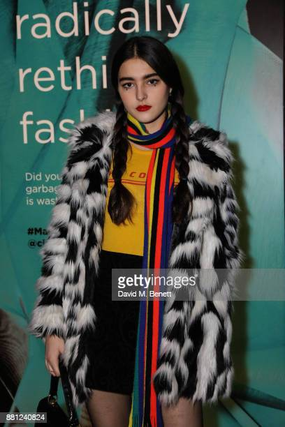 Maddie Mills attends the launch of the Circular Fibres Initiate Report 'Towards A New Textiles Economy' hosted by Dame Ellen MacArthur and Stella...