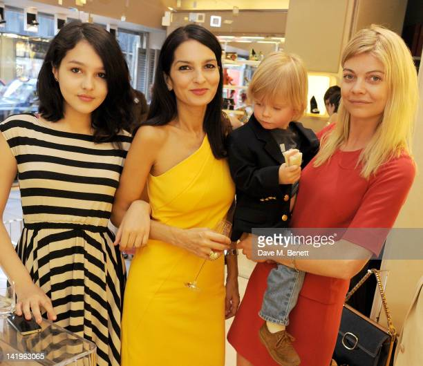 Maddie Mills Yasmin Mills and Jemma Kidd attend a children's afternoon tea party hosted by Roger Vivier to launch their new Jeune Fille collection...
